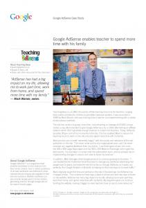 Google AdSense enables teacher to spend more ...  Services