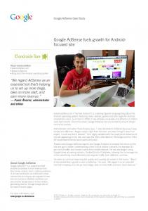Google AdSense fuels growth for Android- focused ...  services