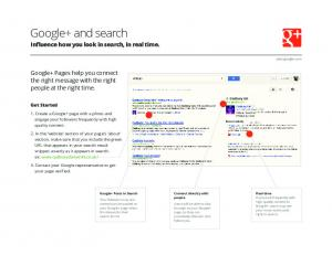 Google+ and search  Services