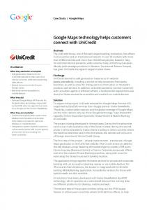 Google Maps technology helps customers connect ...  services