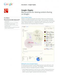 Google+ Ripples Best practices for viewing content ...  Services