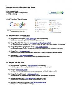 Google Search & Personalized News - SanLeeMiddle