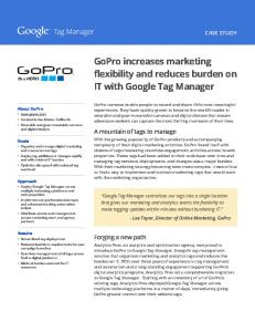 GoPro increases marketing flexibility and reduces ...  Services