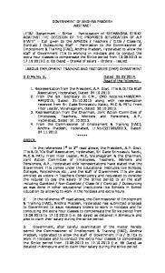 GOVERNMENT OF ANDHRA PRADESH ABSTRACT ... -