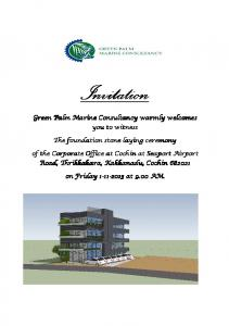 Green Palm Marine Consultancy warmly welcomes ... -