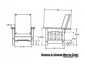 Greene & Greene Morris Chair