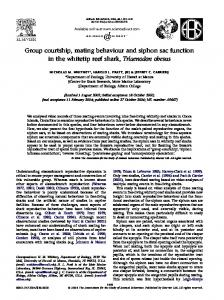 Group courtship, mating behaviour and siphon sac function in the ...