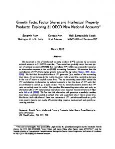 Growth Facts, Factor Shares and Intellectual Property ...
