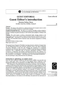 Guest Editor's introduction
