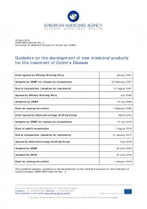 Guideline on the development of new medicinal products for the ...