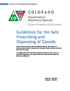 Guidelines for the Safe Prescribing and Dispensing of Opioids.pdf ...