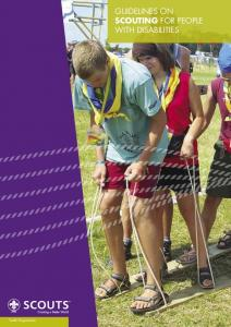 Guidelines on Scouting for People with Disabilities