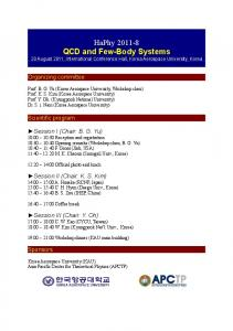 HaPhy 2011-8 QCD and Few-Body Systems