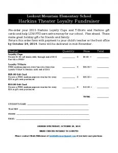 Harkins Theater Loyalty Fundraiser - PDFKUL.COM