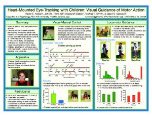 Head-Mounted Eye-Tracking with Children: Visual ...