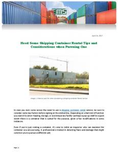 Heed Some Shipping Container Rental Tips and Considerations ...