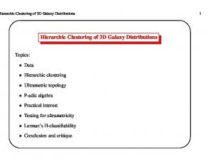 Hierarchic Clustering of 3D Galaxy Distributions - multiresolutions.com