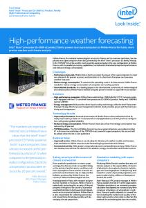 High-performance weather forecasting - Intel