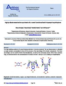 Highly diastereoselective synthesis of a novel functionalized ... - Arkivoc