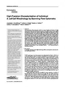 Highprecision characterization of individual E ... - Wiley Online Library
