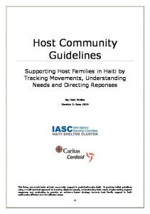 Host Community Guidelines - Humanitarian Library