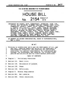 house bill - PA General Assembly