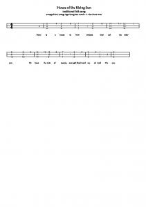 House Of The Rising Sun (chords And Melody).pdf