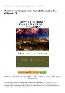 how-a-foreigner-can-be-successful-in-america-be-a-millionaire-PDF ...