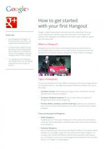 How to get started with your first Hangout  Services