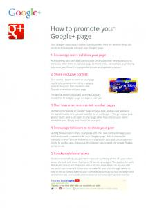 How to promote your Google+ page  Services