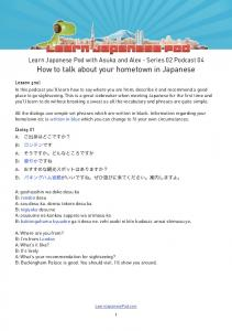 How to talk about your hometown in Japanese - Learn Japanese Pod