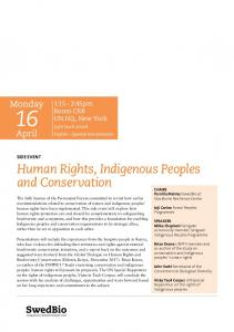 Human Rights, Indigenous Peoples and Conservation - DOCIP