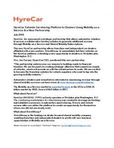 HyreCar Extends Carsharing Platform to Dealers ... - Automotive Digest