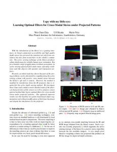 I spy with my little eye: Learning Optimal Filters for ...