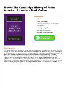 iBooks The Cambridge History of Asian American ...