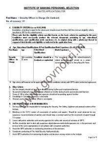 IBPS Dy. Head-Administration, DGM & Security Officer Recruitment ...