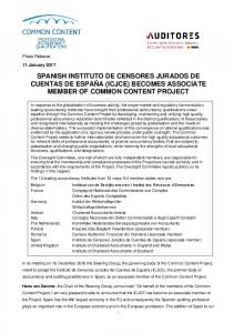 ICAEW memo - Common Content Project
