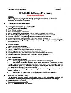 ICE-02 Digital Image Processing -