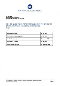 ICH S9 guideline on nonclinical evaluation for anticancer ...