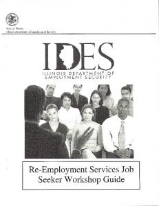 IDES Re-Employment Services Job Seeker Workshop Guide.pdf ...