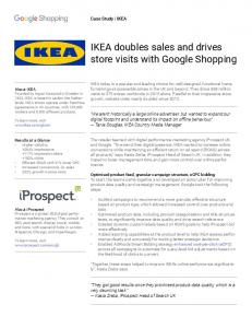 IKEA doubles sales and drives store visits with ...  Services