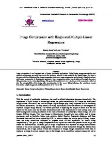 Image Compression with Single and Multiple Linear Regressions