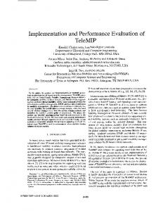 Implementation and performance evaluation of TeleMIP - IEEE Xplore
