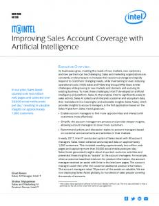Improving Sales Account Coverage with Artificial Intelligence