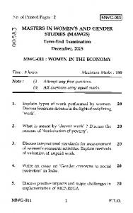 In MASTERS IN WOMEN'S AND GENDER 00 STUDIES (MAWGS)