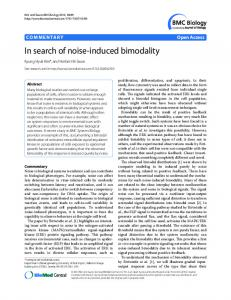 In search of noise-induced bimodality - Core