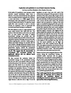 In the studies of computational motor learning in ...