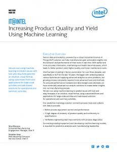 Increasing Product Quality and Yield Using Machine Learning - Intel