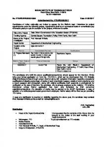 Indian Institute of Technology Delhi Recruits Jr. Project Attendant ...