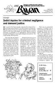 Indict Aquino for criminal negligence and demand justice - Philippine ...